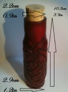 Red Leather Potion Bottle with Celtic Heart